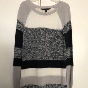 BCBMAXAZRIA long sleeve Black & white knitted top